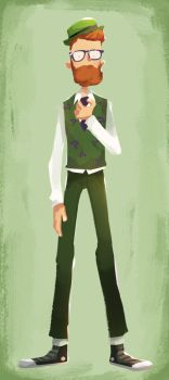 Hipster Riddler by Andry-Shango