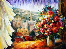 Flowers Of Jerusalem by Leonid Afremov by Leonidafremov