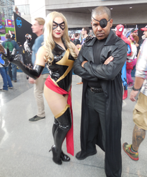 Classic Ms. Marvel and Nick Fury by R-Legend