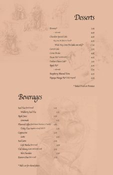 Le Quiche- drinks and desserts by akumadorobo