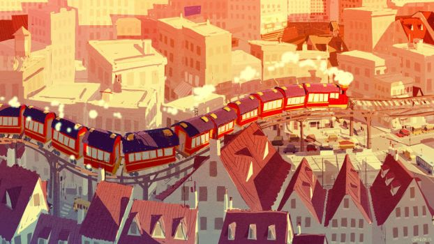 The through train by PascalCampion
