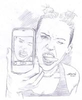 Miley Selfie by StevenWilcox