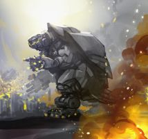 MECHA-GAMERA lives by Gabezilla2015