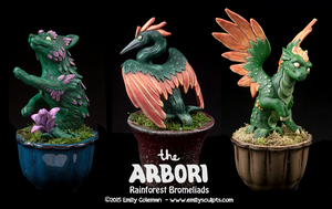 The Arbori : Rainforest Bromeliads by emilySculpts