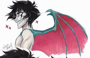 Devilman Crybaby-Akira doodle by Stray-Sketches