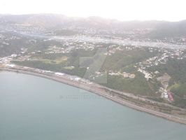 Wellington Motorway Aerial by AJChimaera