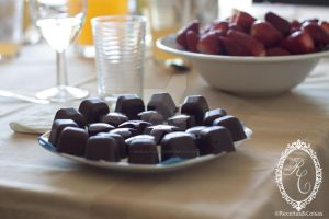 Gluten free chocolate candies with strawberry fill by goncalo-lopes