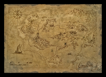 Bilbo's Map of Eriador 2 by amegusa