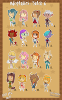 Adoptables . Batch Six { OPEN } by CrypticInk