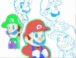 Mario and Luigi rpg style by PokeStar235