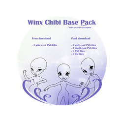 Winx chibi bases (Now with free option!) by fiorei