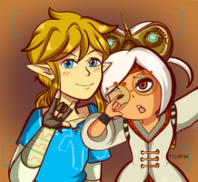 AT: Purah And Link by TeLinkfan1