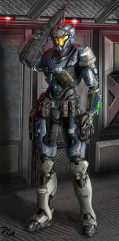 Spartan V147 Ready for battle by philorion7