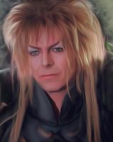 David Bowie as Jareth in the movie Labyrinth by petnick