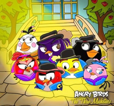 Angry Birds The Three musketeers cover by Oceanegranada