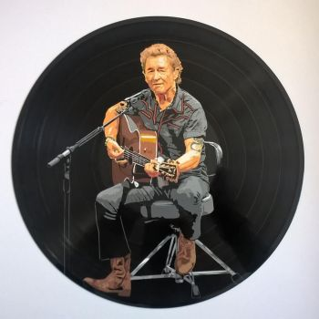 Peter Maffay painted on vinyl record by vantidus