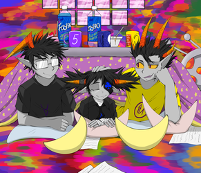 kotatsu party by Lunatic-Mo-on