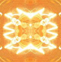 Electric Orange Tiles 1 by Windthin
