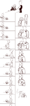 Undertale sansby sketchdump by Kare-Valgon