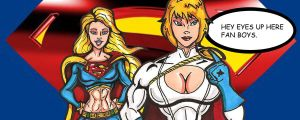 PowerGirl And SuperGirl by RWhitney75