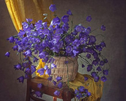Still life with bellflowers by Daykiney
