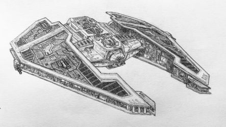 Fury-class Imperial interceptor by DarkSapiens