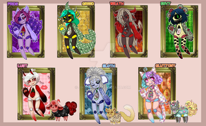 7 Deadly Sins Adopts Auction: CLOSED! by MAJIKK-U