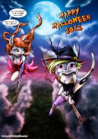 Happy Halloween 2012 from Fally and Sherly! by nime080