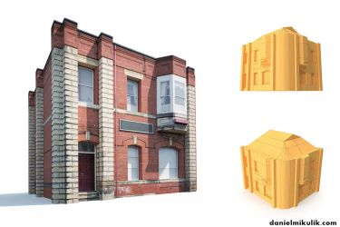 Apartment House #161 Low Poly 3d Model by Cerebrate
