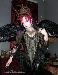 Queen of the Corvids Costume 16 by MorganCrone