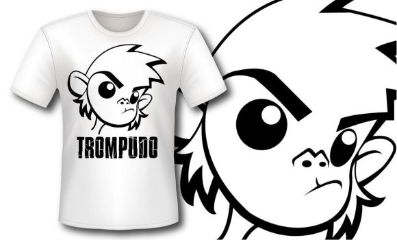 Camiseta Mono Trompudo by manuarts3000