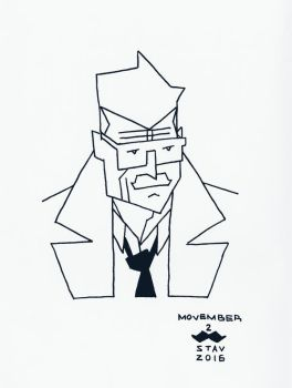 Movember#2 - Commissioner J. Gordon by croovman