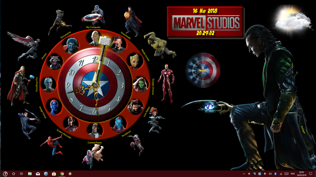Marvel Heroes(2) For Xwidget by DaveBreck