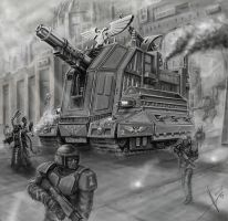 Imperial guard heavy artillery by HrvojeSilic
