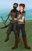 Gweniver and Zach (Darkhold Chronicles) by ShadowDragonia