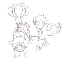 Ryan And Christian Balloons by Foxhatart