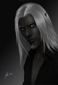 Vastion - Drow by Khiralas