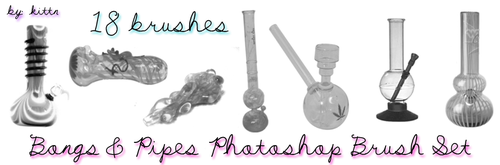 Bong Pipe Photoshop Brushes by punkdoutkittn