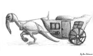 #48: Random Creature Carriage Doodle by Ben-Delamore