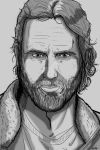 Walking Dead Sketch Cards: Rick by darlinginc