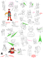 Megaman Zero - Sketches by zavraan