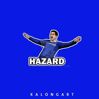 Eden Hazard flat design  by kalongart