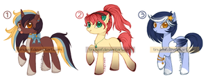 Pony Adoptable Batch04 - CLOSED by Tinuleaf-Adopts