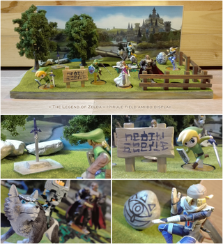 The Legend of Zelda amiibo display stand diorama by NBros