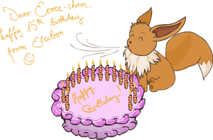 Happy birthday, Eevee-chan by electronx