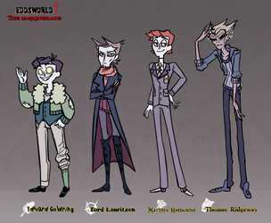 [Eddsworld VtMB AU] Characters Reference by pirran-p