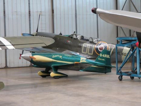 in the hanger shot ,duxford ,cosmic wind , by Sceptre63