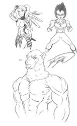 Mercy, Vegeta, and Beefcake Carl - Stream Results by TaylorBoykin
