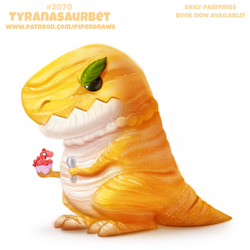 Daily Paint #2070. Tyranasaurbet by Cryptid-Creations