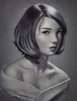 Female Portrait Study 2 Day #44 by AngelGanev
